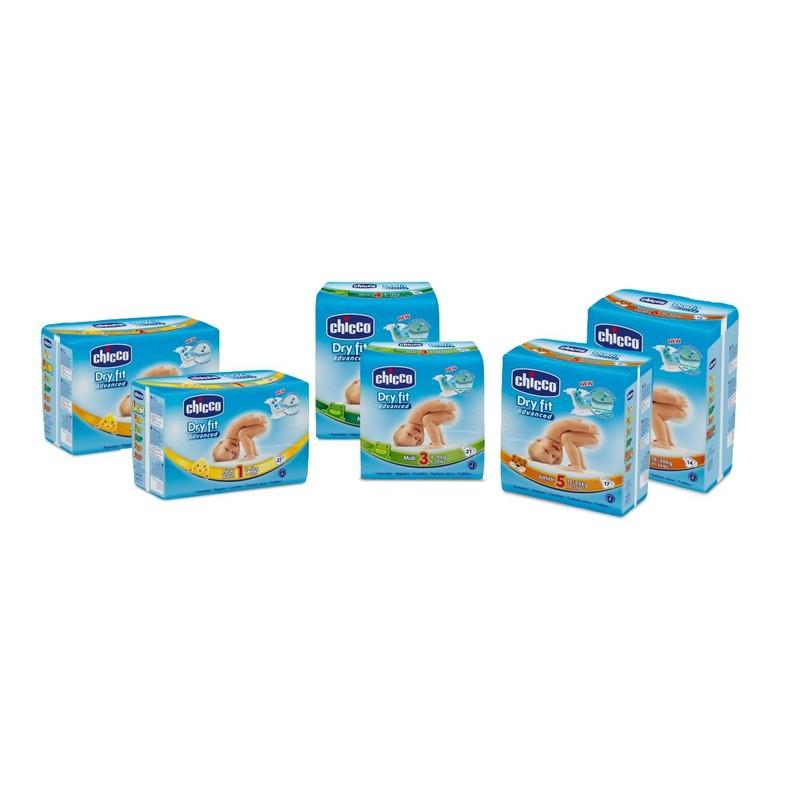 10 Confezioni Pannolini DryFit Advanced Midi 4-9 kg 10 confezioni pannolini