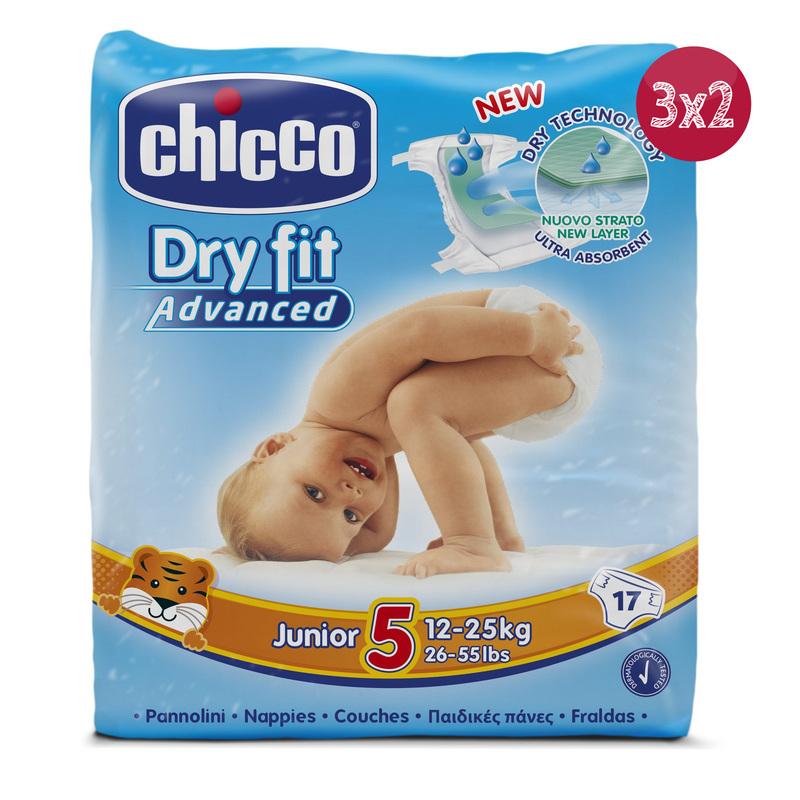 3x2 Pannolini Dryfit Advanced Junior 12-25 Kg