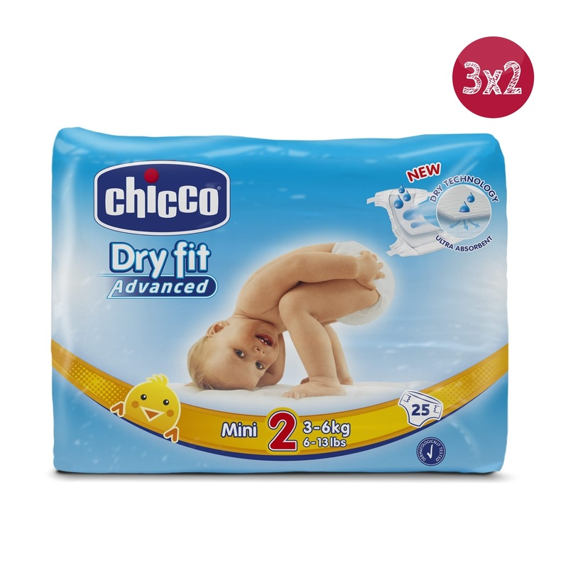 3x2 Pannolini DryFit Advanced Mini 3-6 kg