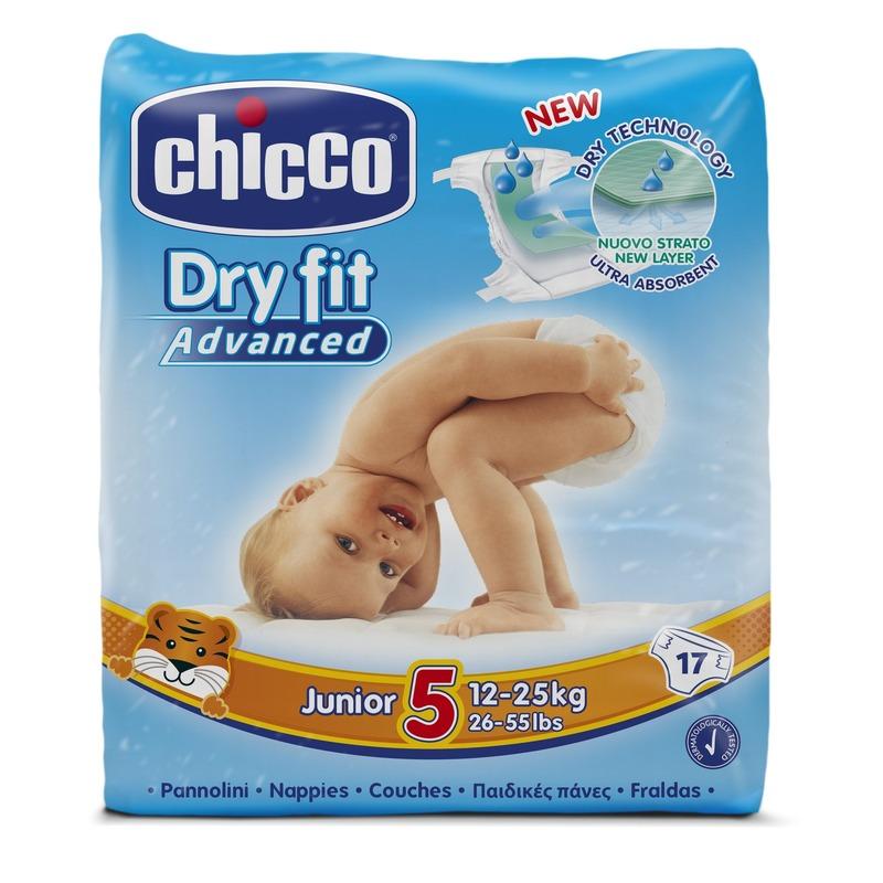 10 Confezioni Pannolini DryFit Advanced Junior 12-25 kg taglia 5