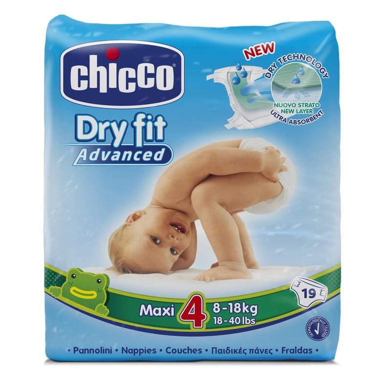10 Confezioni Pannolini DryFit Advanced Maxi 8-18 kg taglia 4