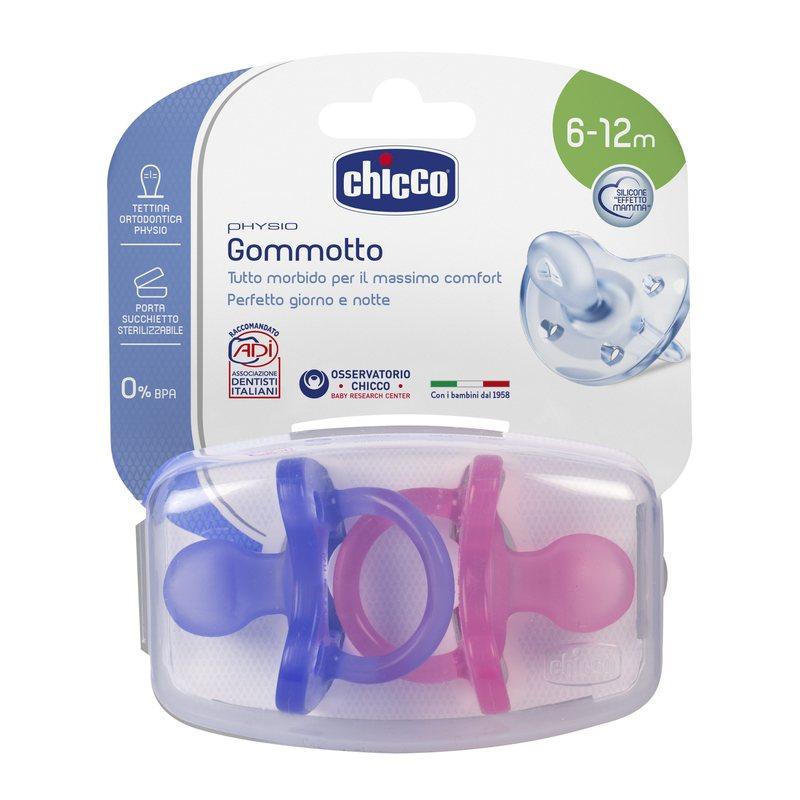 Gommotto Physio Soft Bimba Silicone 6-12m + 2 pezzi
