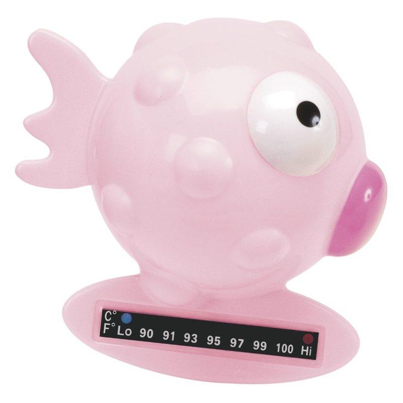 Termometro da bagno pesce palla Rosa