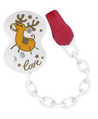 Clip con catenella Renna Natale