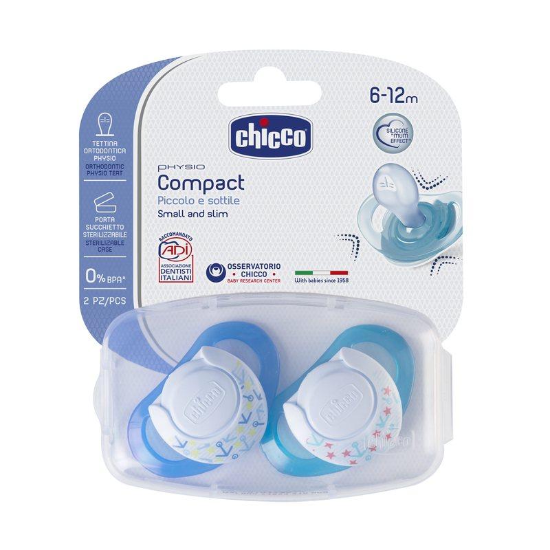 Succhietto Physio Ring 6-12m Azzurro Silicone