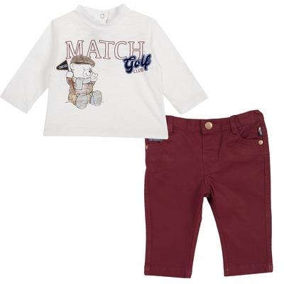 Set maglietta con orsetto e pantalone lungo