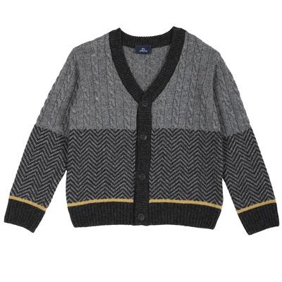 Cardigan tricot misto lana