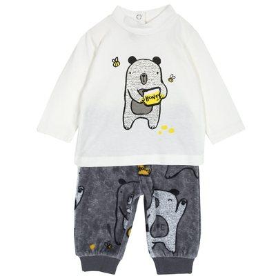 Set maglietta e pantalone con orsi
