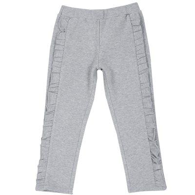 Pantalone in felpa con volant