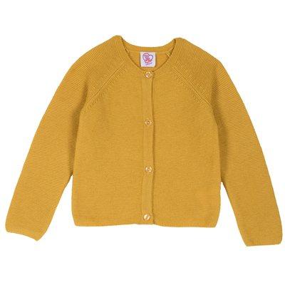 Cardigan in tricot misto lana