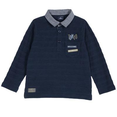 Polo jersey jacquard
