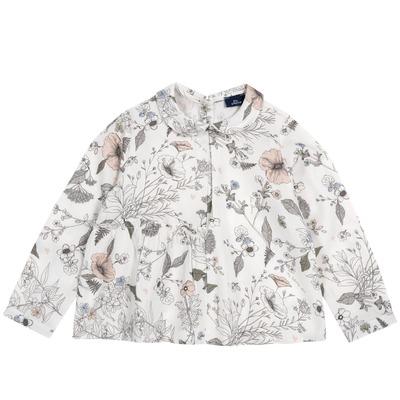 Camicia floreale in flanella
