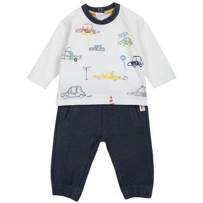 Set maglietta con macchinine e pantalone