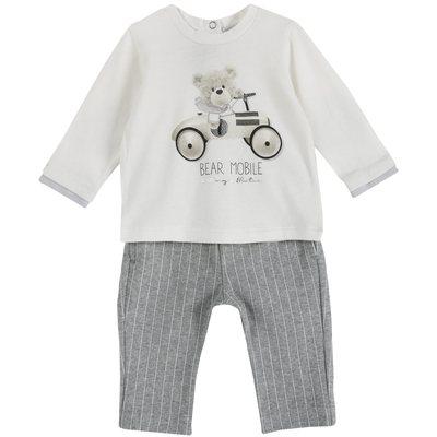 Set maglietta e pantalone con orsetto