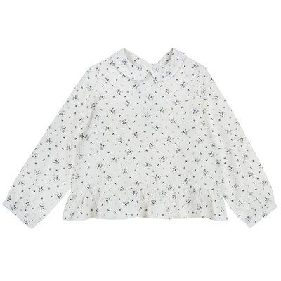 Camicia di flanella con fiori