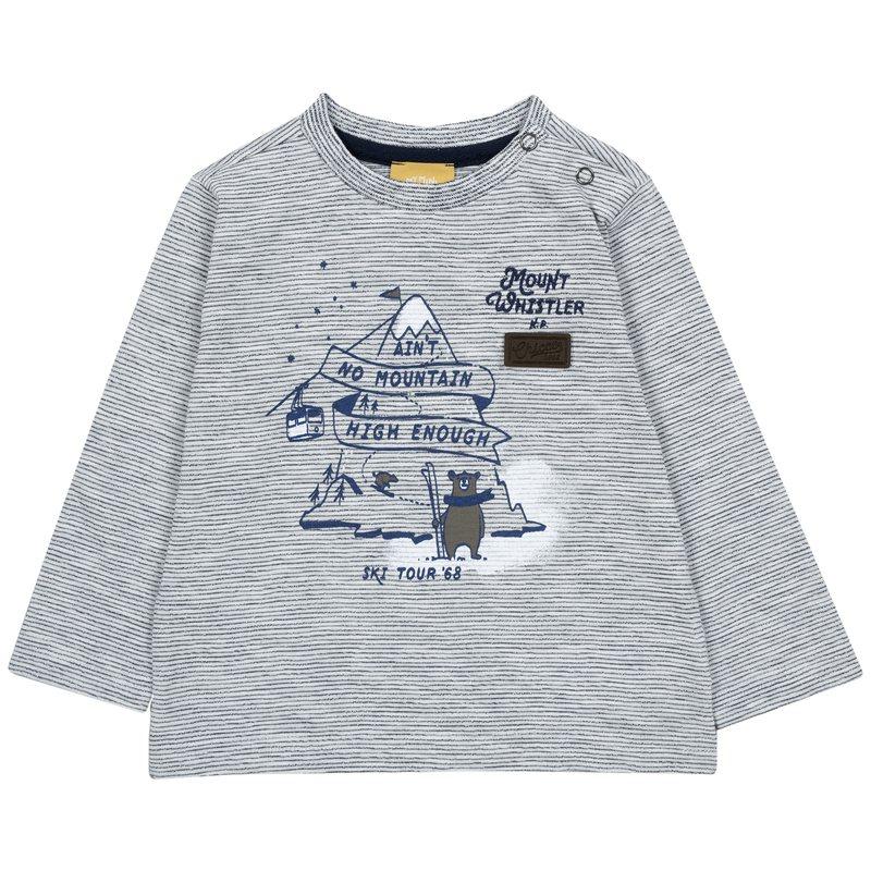 Maglietta a righe con orso