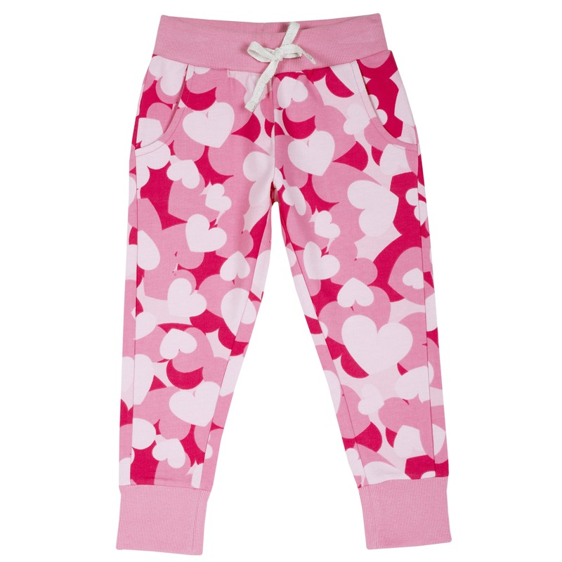 Pantalone con stampa all over 7Y ROSA STAMPATO