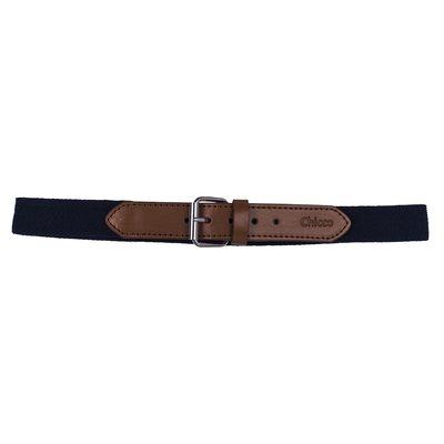 Cintura con fibbia marrone e elastico