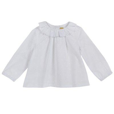 Camicia con manica lunga e colletto volant