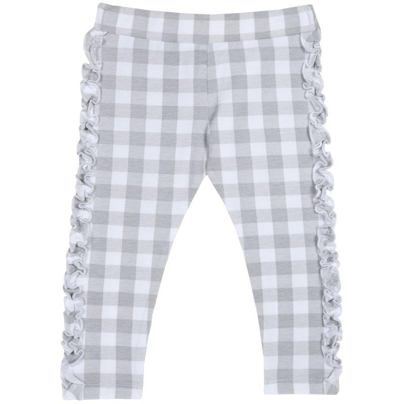 Pantalone a quadri con volant