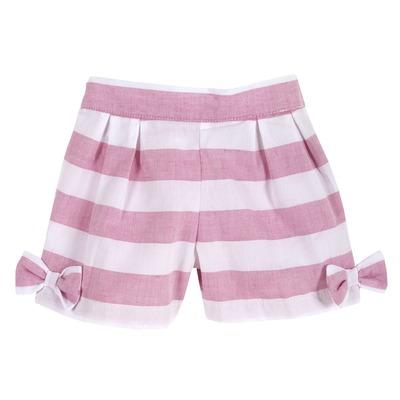 Pantaloncino a righe con fiocchetti