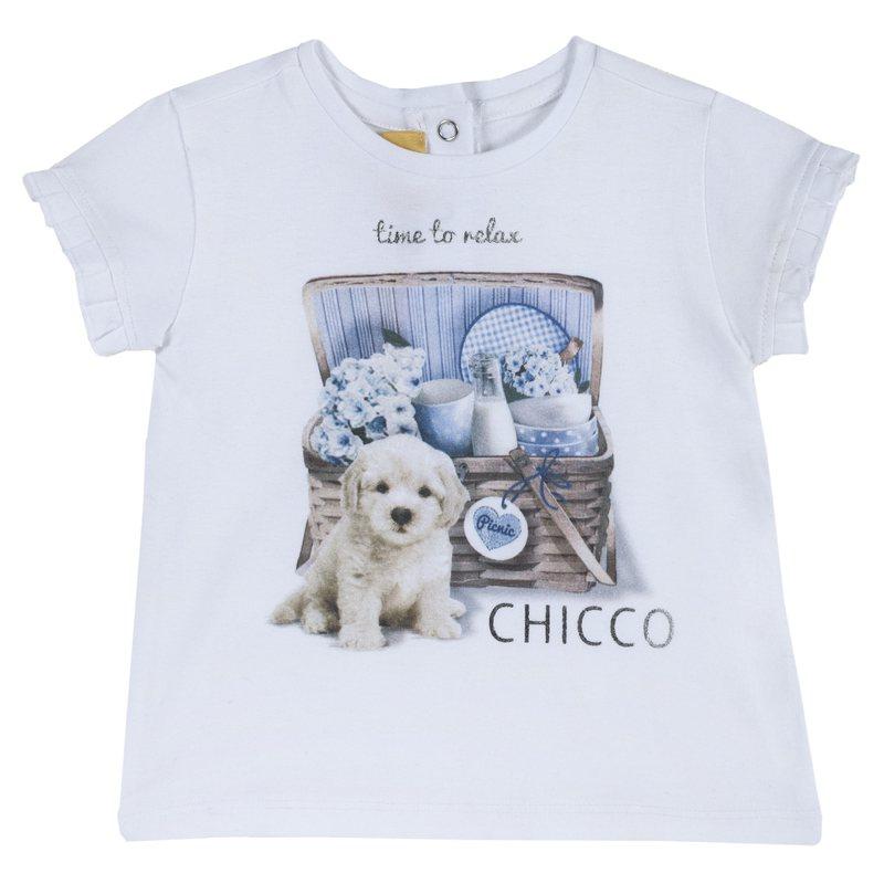 T-shirt con cagnolino 9M BIANCO