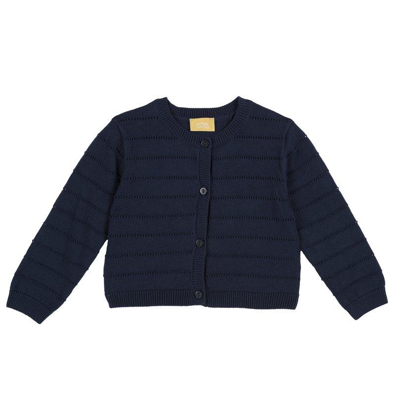 Cardigan di cotone tricot