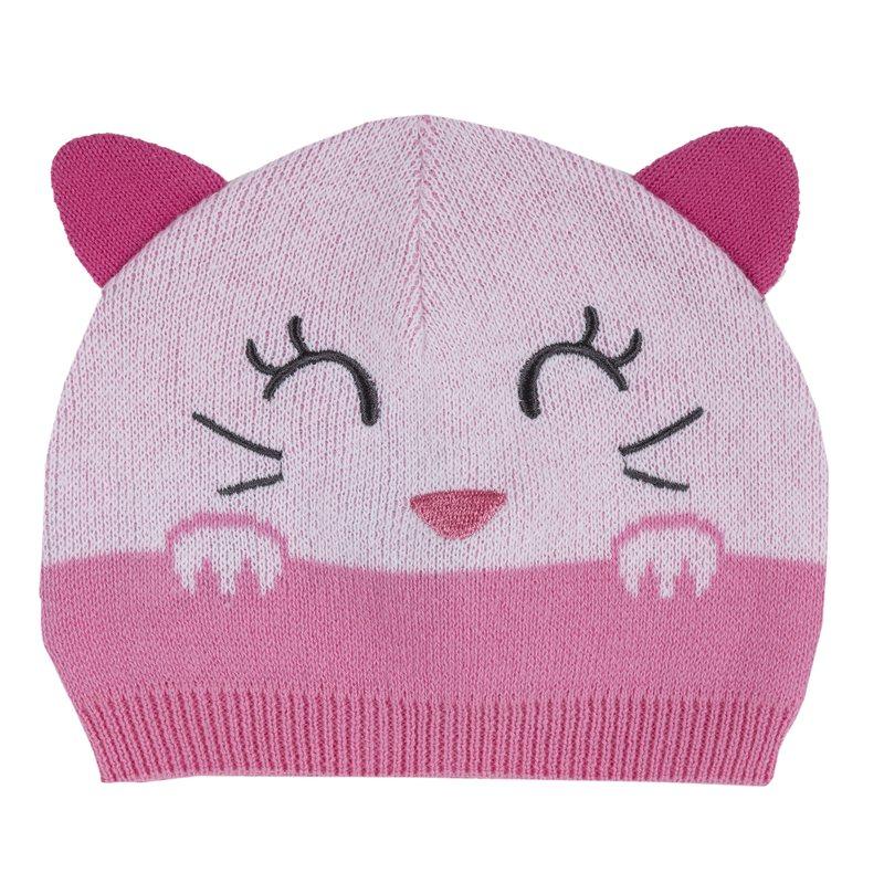 Cappello con ricamo e orecchie