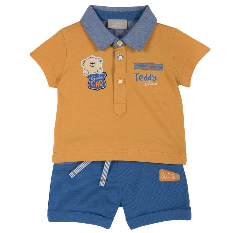Set polo Teddy con pantaloncino
