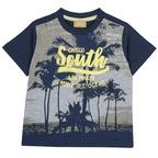 T-shirt con palme 9M GRIGIO SCURO