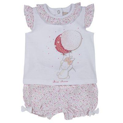 Set t-shirt con coniglietta e pantaloncini