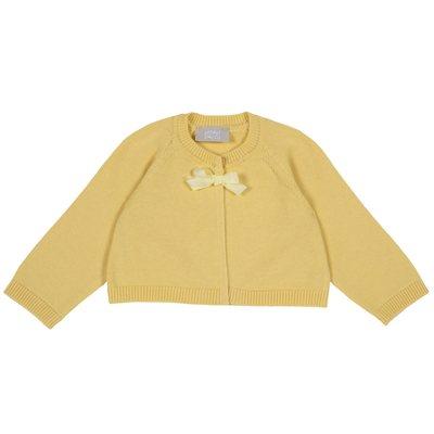 Cardigan in tricot con fiocco