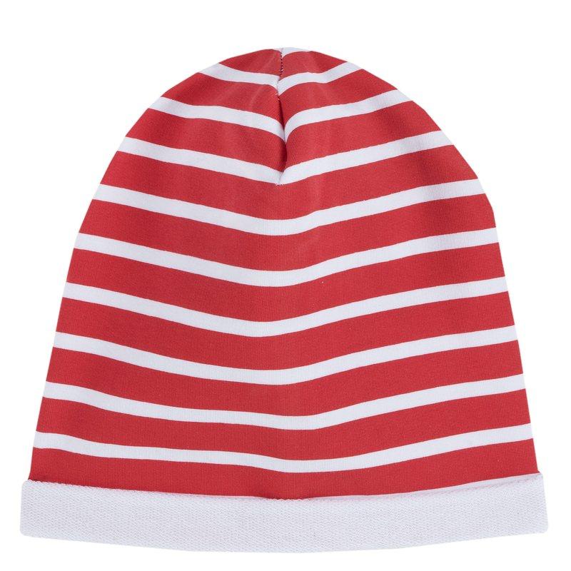 Cappellino di felpa 0M BIANCO E ROSSO