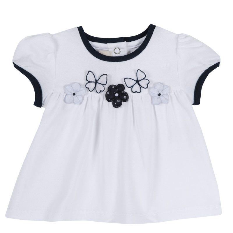 T-shirt con farfalline e fiorellini