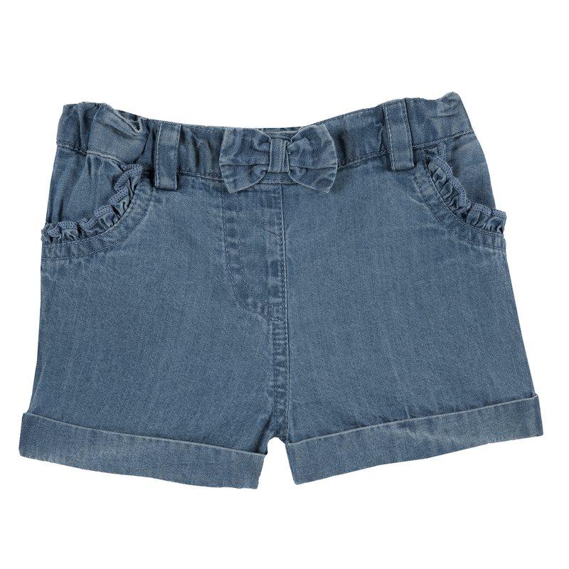 Pantaloncino di jeans con fiocco