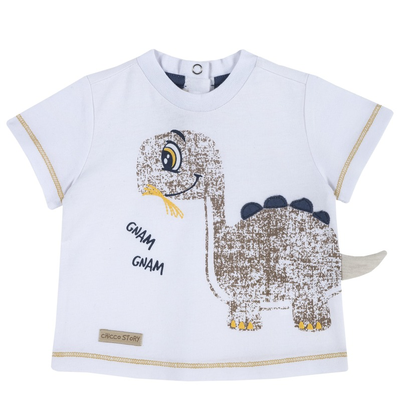 T-shirt con dinosauro
