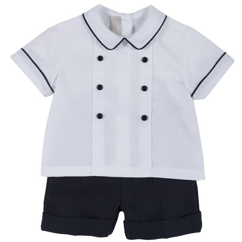 Set camicia e pantaloncino di lino