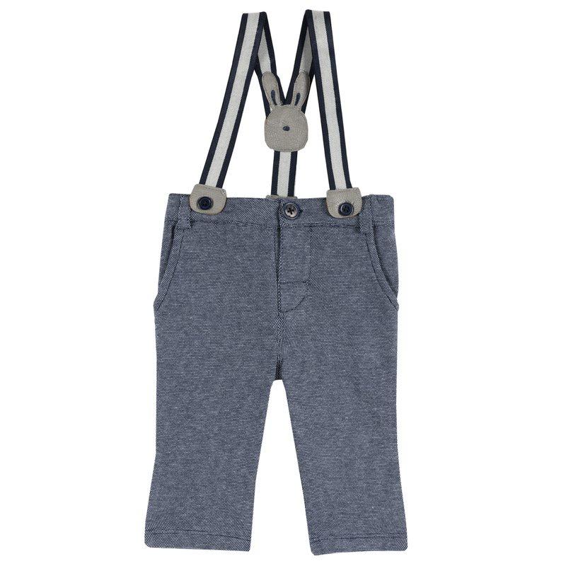 Pantaloni con bretelle 1M BLU SCURO