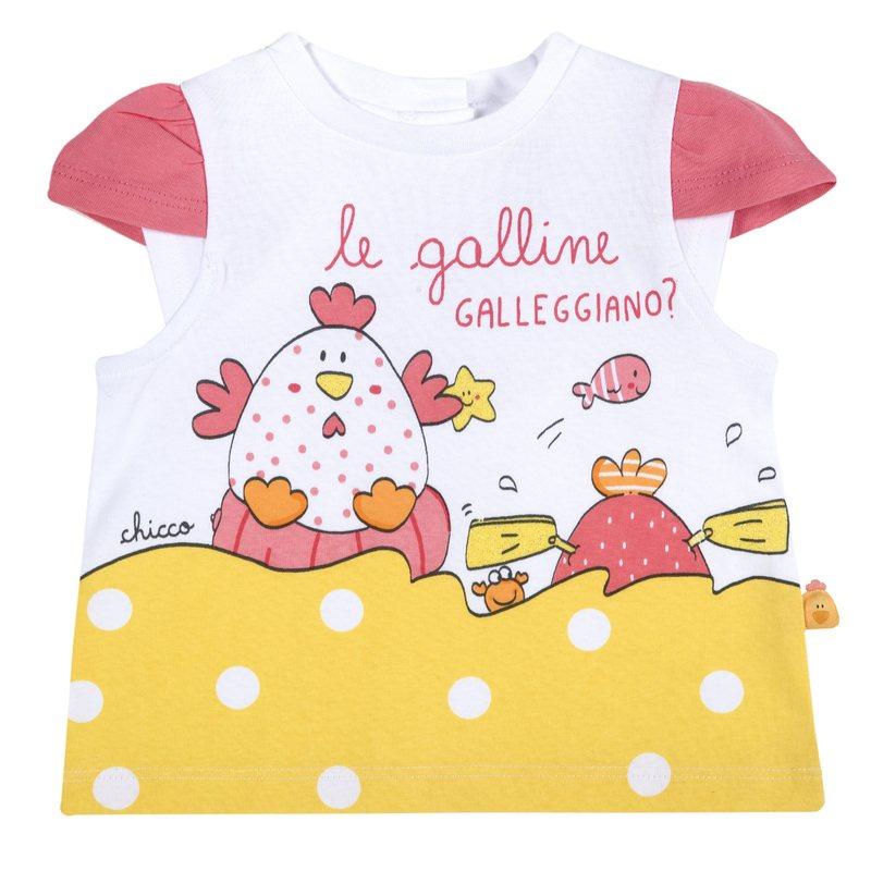 T-shirt con gallinelle