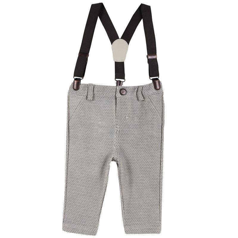 Pantaloni interlock con bretelle