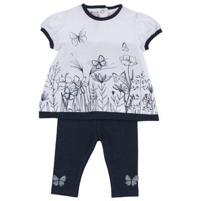 Set t-shirt e leggings con farfalline