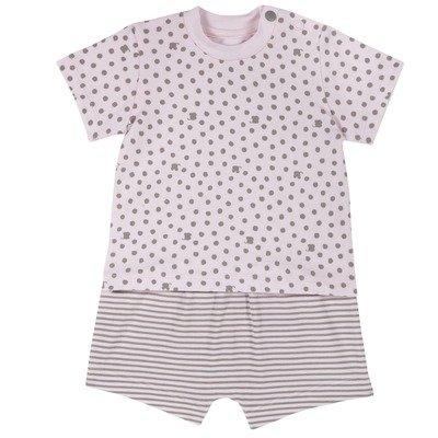 Set t-shirt e pantaloncini con stampe all over