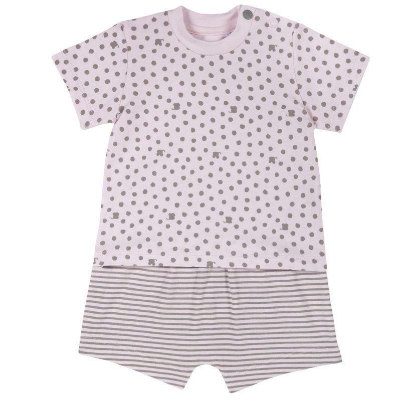Set t-shirt e pantaloncini con stampe all over