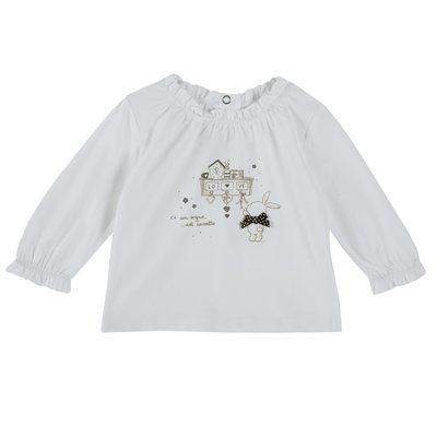 Maglietta con fiocchetto e coniglietto