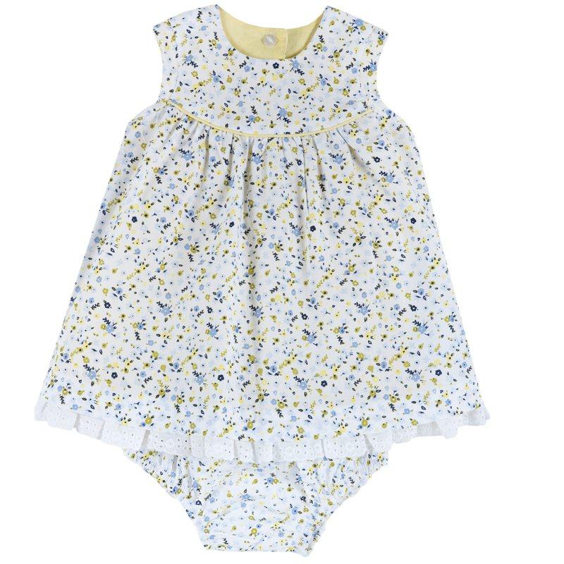 Set abito reversibile floreale e coulotte