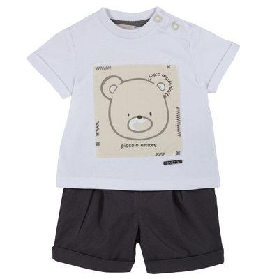 Set t-shirt Chicco Orsacchiotto e pantaloncino