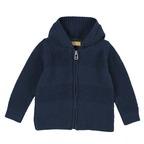 Cardigan di tricot con cappuccio 9M BLU SCURO