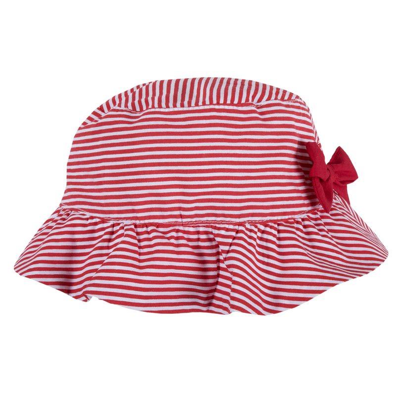 Cappello con fiocco 0M BIANCO E ROSSO