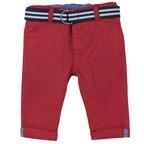 Pantaloni con cintura 1M ROSSO CHIARO