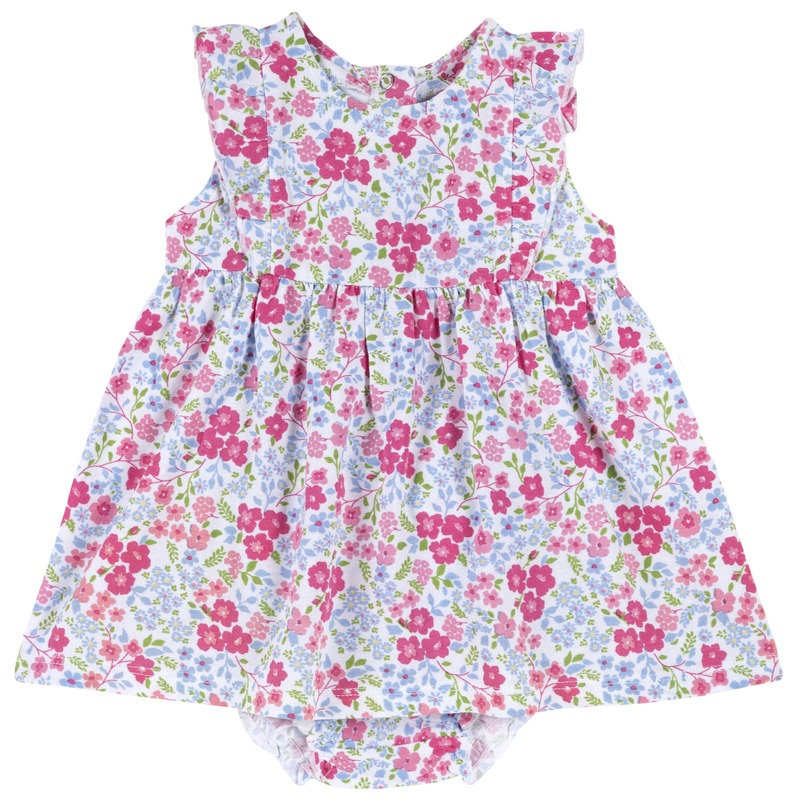 Set abito floreale con manica corta e coulotte